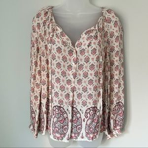 LUCKY BRAND | Flowy Floral Blouse